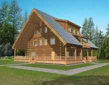 40 Best Log Cabin Homes Plans One Story Design Ideas (33)