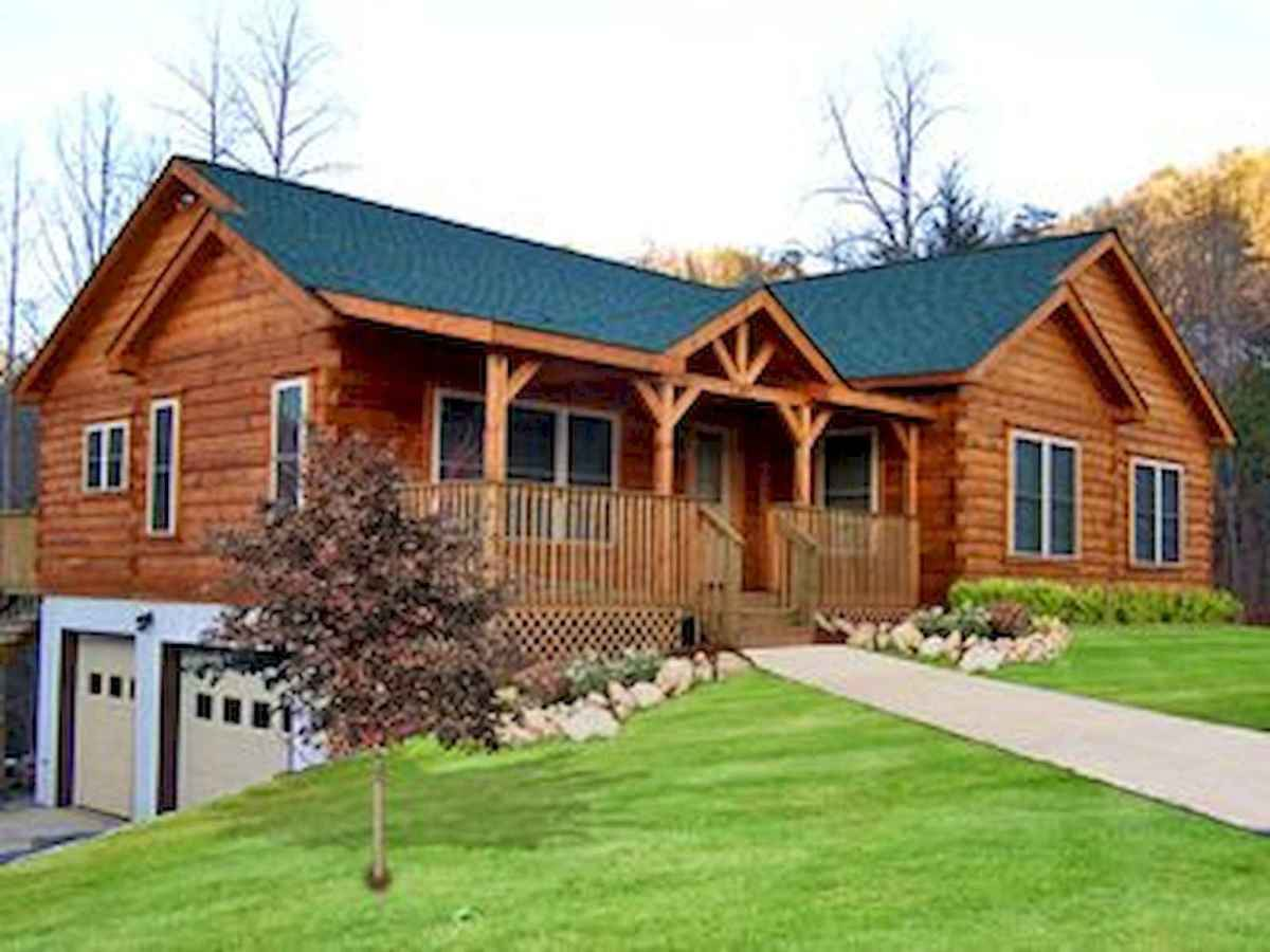 40 Best Log Cabin Homes Plans One Story Design Ideas (44)