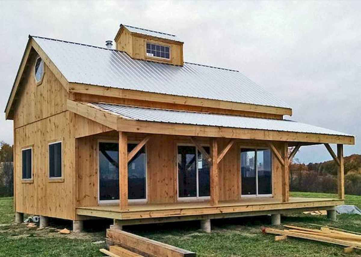 40 Best Log Cabin Homes Plans One Story Design Ideas (5)