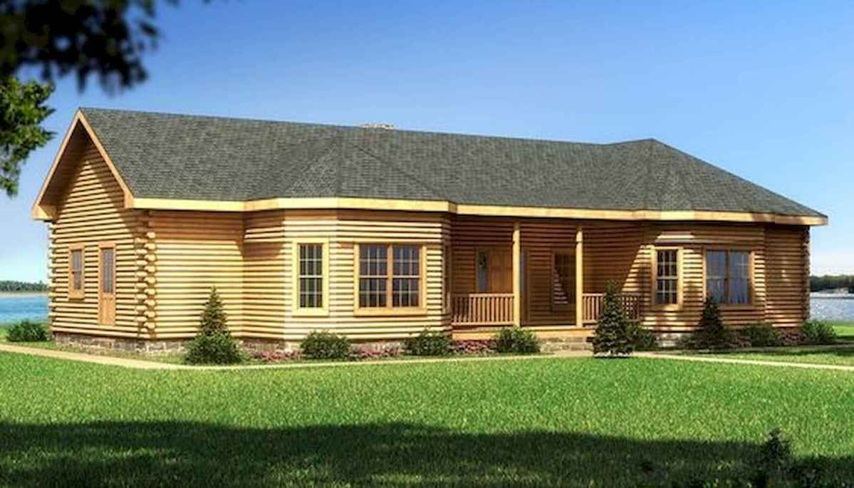 40 Best Log Cabin Homes Plans One Story Design Ideas (6)