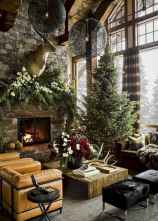 60 Stunning Log Cabin Homes Fireplace Design Ideas (35)