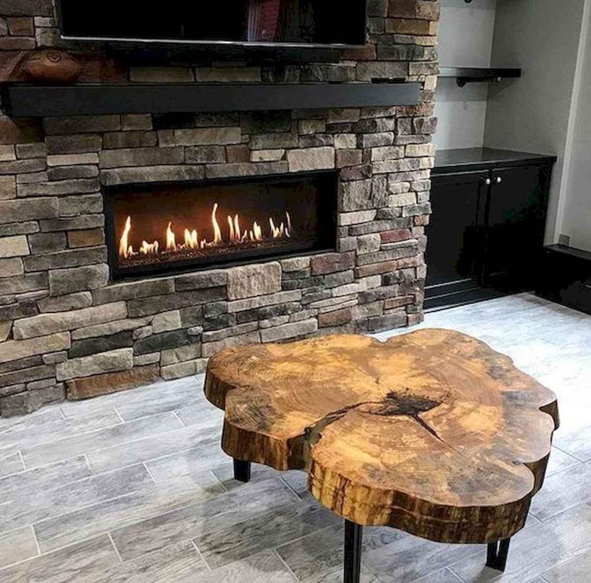 60 Stunning Log Cabin Homes Fireplace Design Ideas (38)