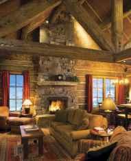 60 Stunning Log Cabin Homes Fireplace Design Ideas (50)