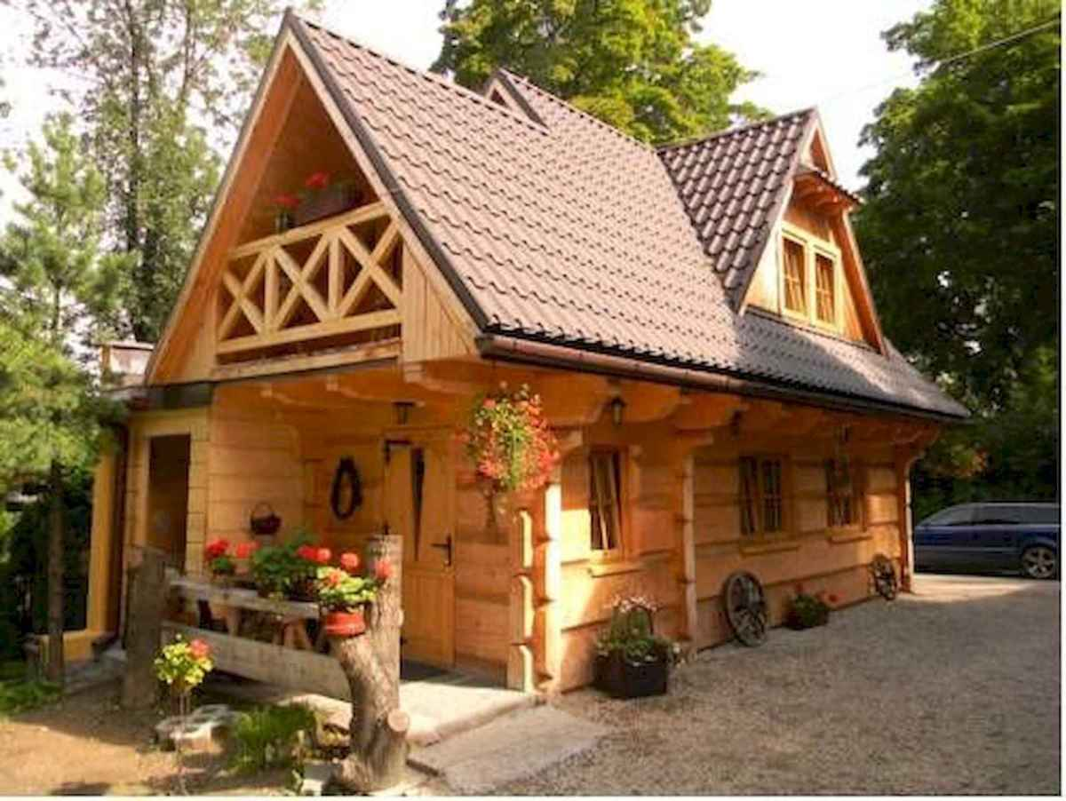 70 Fantastic Small Log Cabin Homes Design Ideas (16)