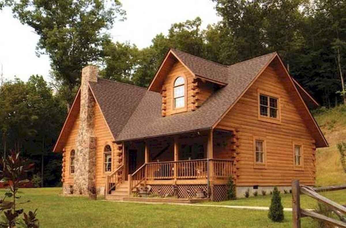70 Fantastic Small Log Cabin Homes Design Ideas (26)