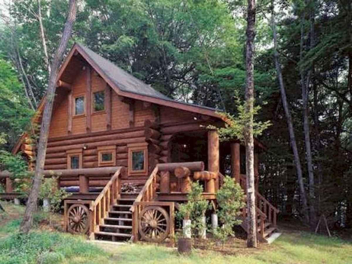 70 Fantastic Small Log Cabin Homes Design Ideas (3)