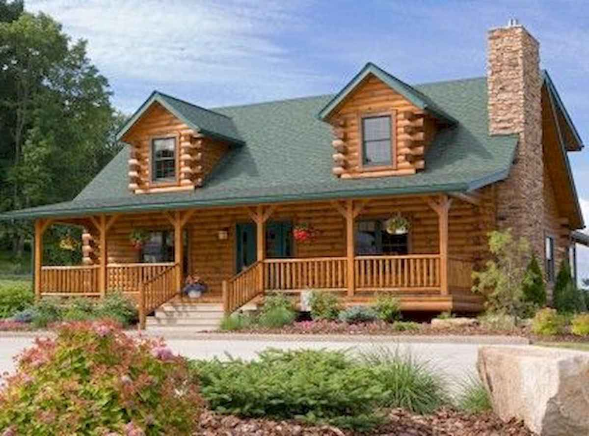 70 Fantastic Small Log Cabin Homes Design Ideas (31)