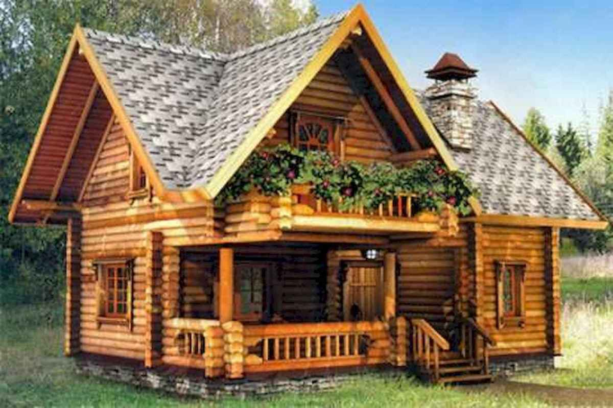 70 Fantastic Small Log Cabin Homes Design Ideas (39)