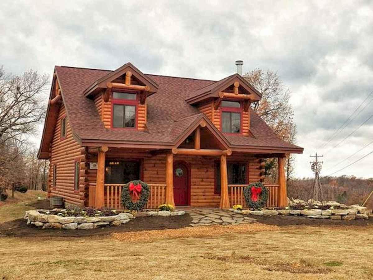 70 Fantastic Small Log Cabin Homes Design Ideas (5)