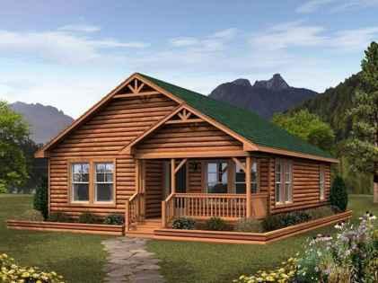 70 Fantastic Small Log Cabin Homes Design Ideas (56)
