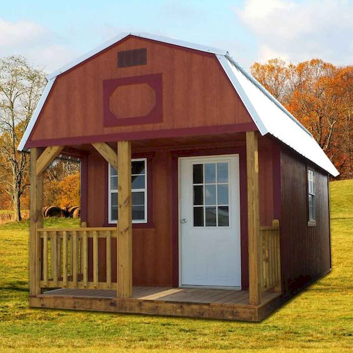 70 Fantastic Small Log Cabin Homes Design Ideas (64)
