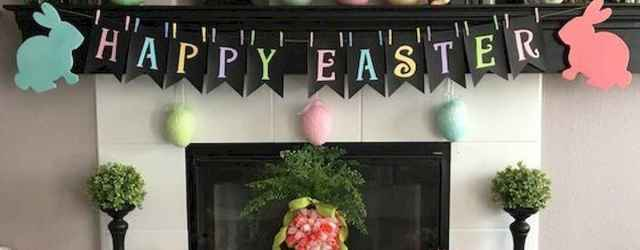 35 Best Easter Fireplace Mantle Decor Ideas (21)