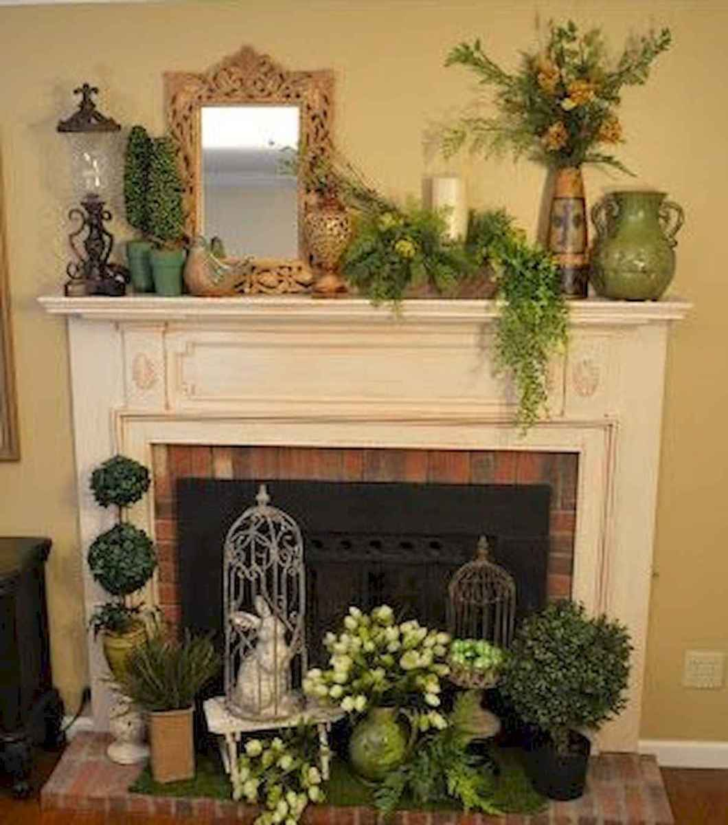 35 Best Easter Fireplace Mantle Decor Ideas (25)