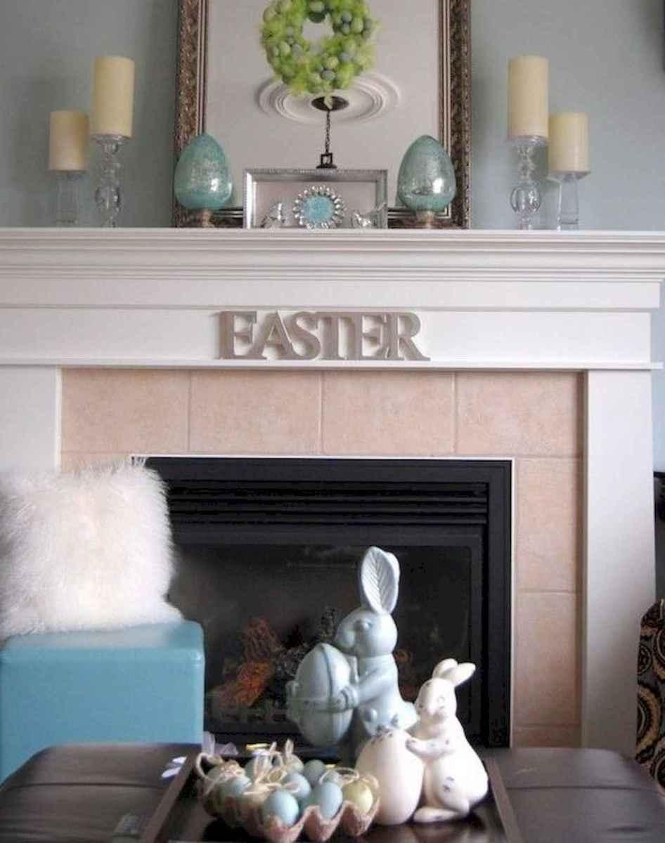 35 Best Easter Fireplace Mantle Decor Ideas (28)