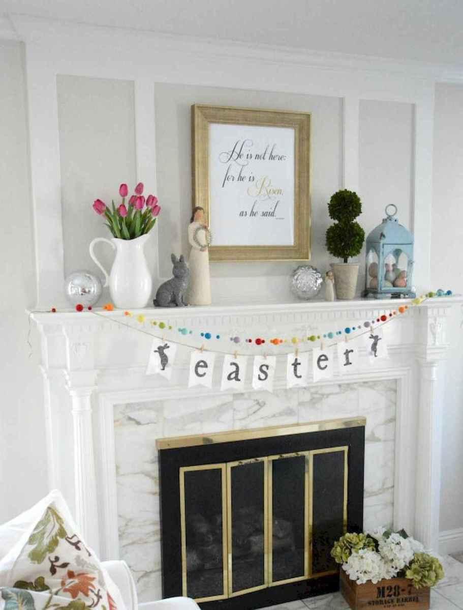 35 Best Easter Fireplace Mantle Decor Ideas (30)