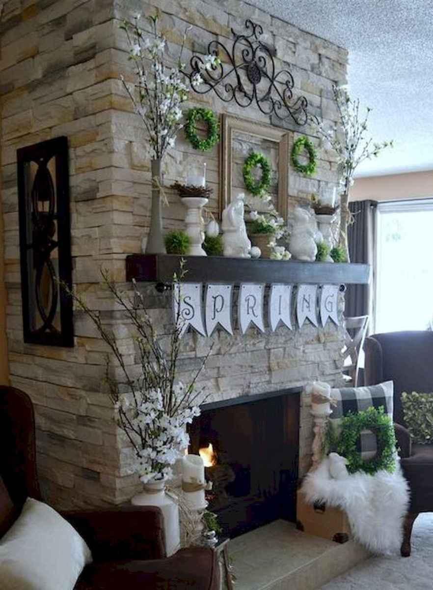 35 Best Easter Fireplace Mantle Decor Ideas (5)