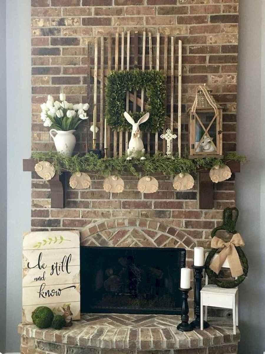 35 Best Easter Fireplace Mantle Decor Ideas (9)