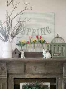 50 Beautiful Spring Mantle Decorating Ideas (18)