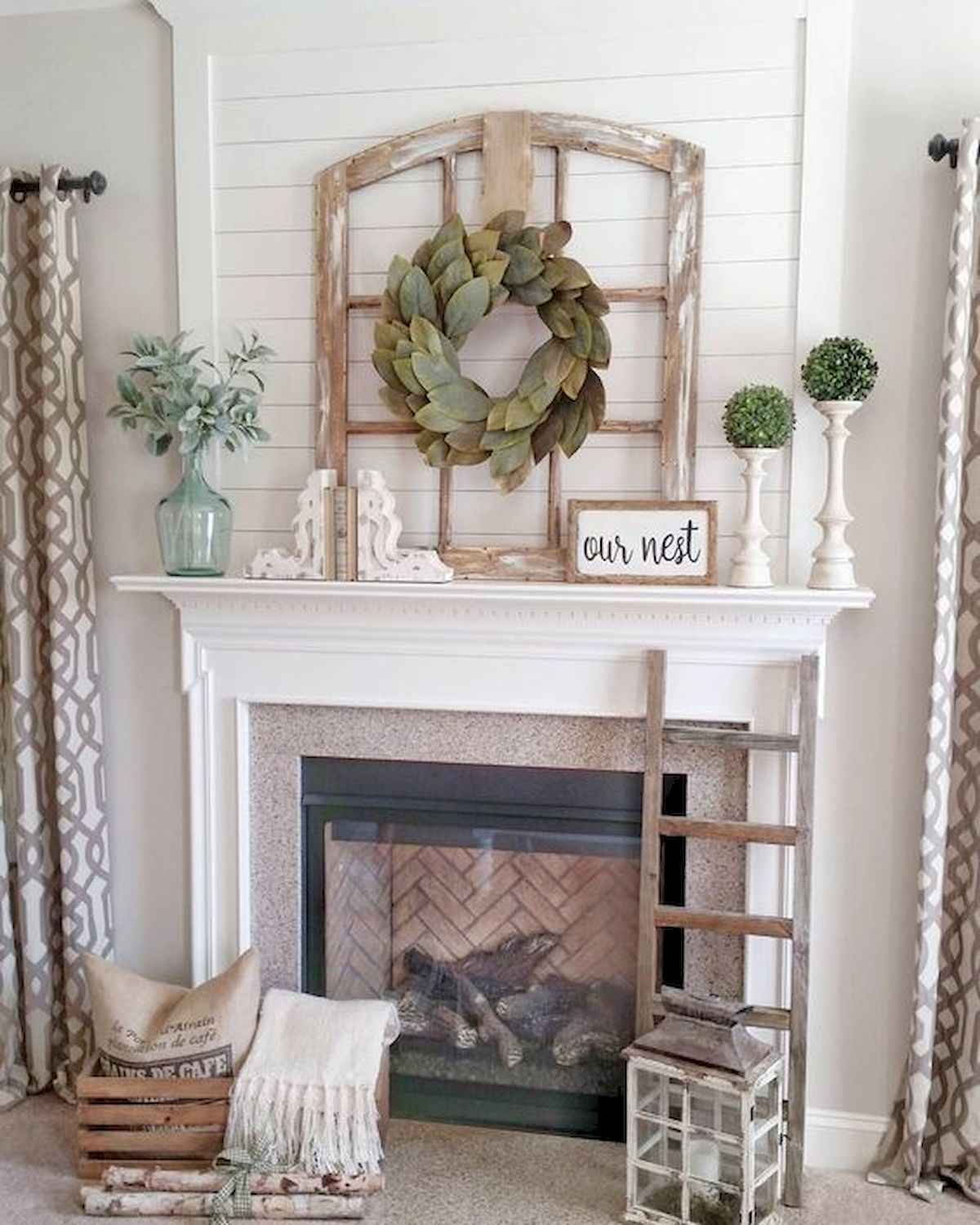 50 Beautiful Spring Mantle Decorating Ideas (19