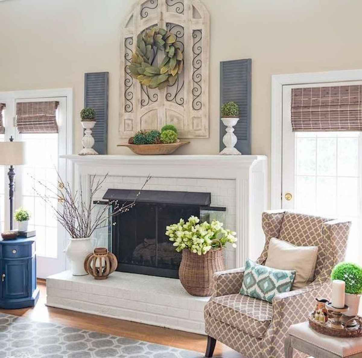 50 Beautiful Spring Mantle Decorating Ideas (40