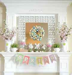 50 Beautiful Spring Mantle Decorating Ideas (5)