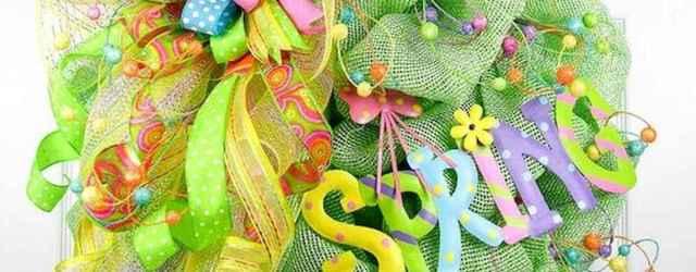 50 Beautiful Spring Wreaths Decor Ideas and Design (29)