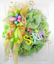 50 Beautiful Spring Wreaths Decor Ideas and Design (29)