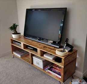 50 Favorite DIY Projects Pallet TV Stand Plans Design Ideas (38)