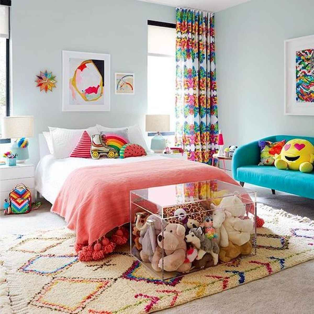 70+ Amazing Colorful Bedroom Decor Ideas And Remodel for Summer Project (11)