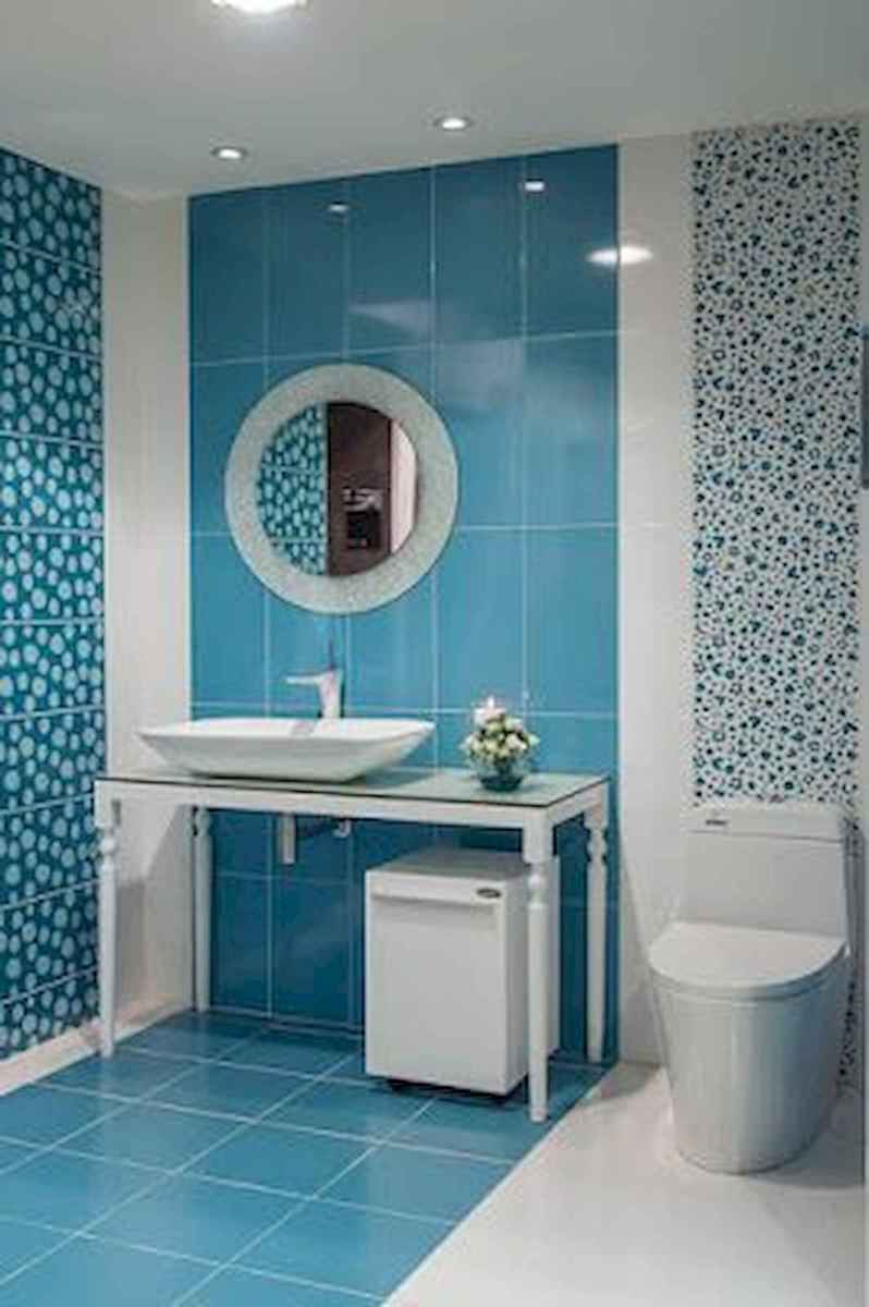 70+ Cool Colorful Bathroom Decor Ideas And Remodel for Summer Project (19)