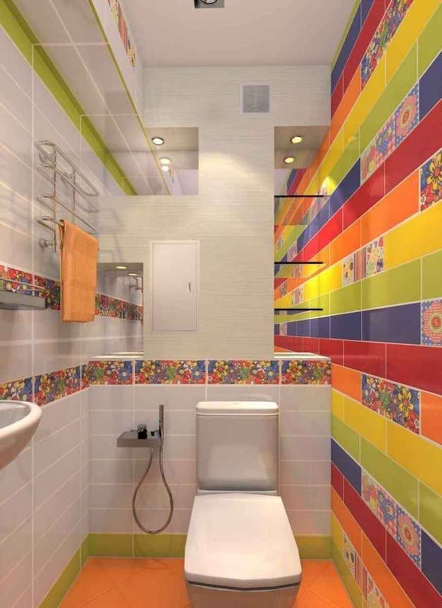 70+ Cool Colorful Bathroom Decor Ideas And Remodel for Summer Project (23)