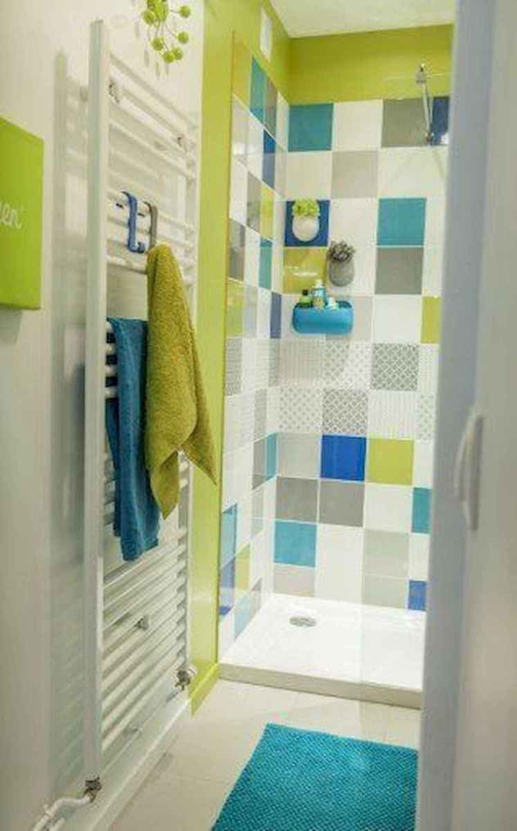 70+ Cool Colorful Bathroom Decor Ideas And Remodel for Summer Project (26)