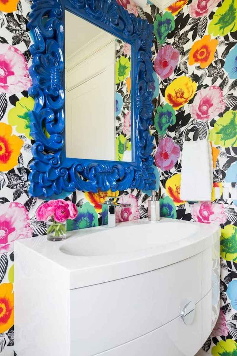 70+ Cool Colorful Bathroom Decor Ideas And Remodel for Summer Project (38)