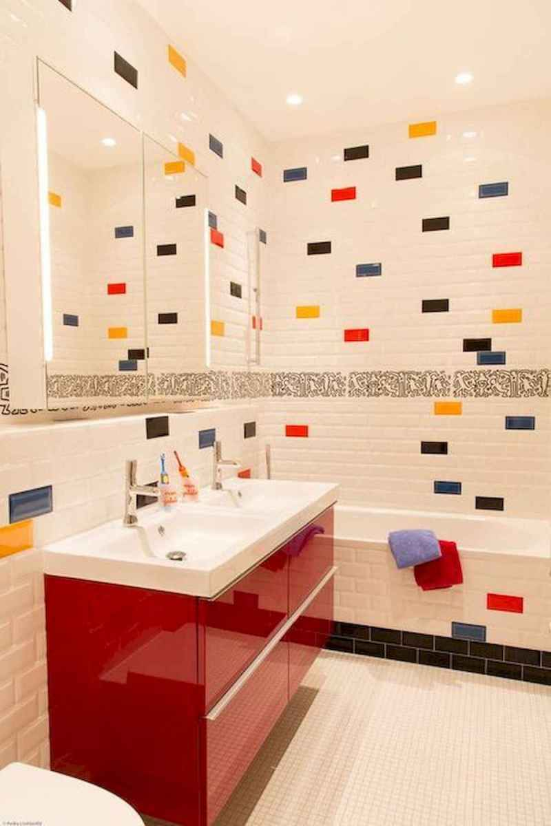 70+ Cool Colorful Bathroom Decor Ideas And Remodel for Summer Project (54)