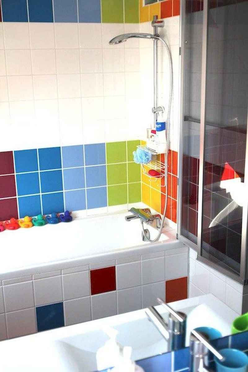 70+ Cool Colorful Bathroom Decor Ideas And Remodel for Summer Project (67)
