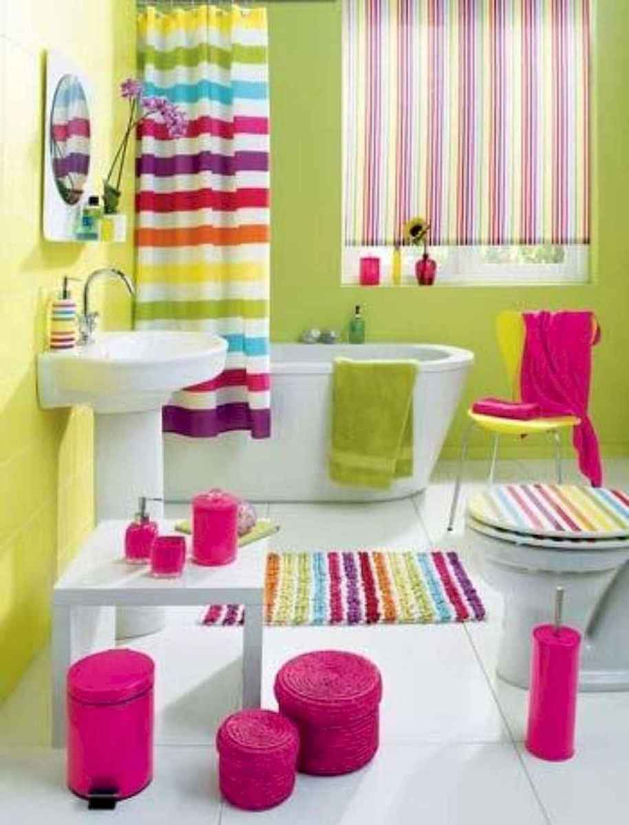 70+ Cool Colorful Bathroom Decor Ideas And Remodel for Summer Project (68)