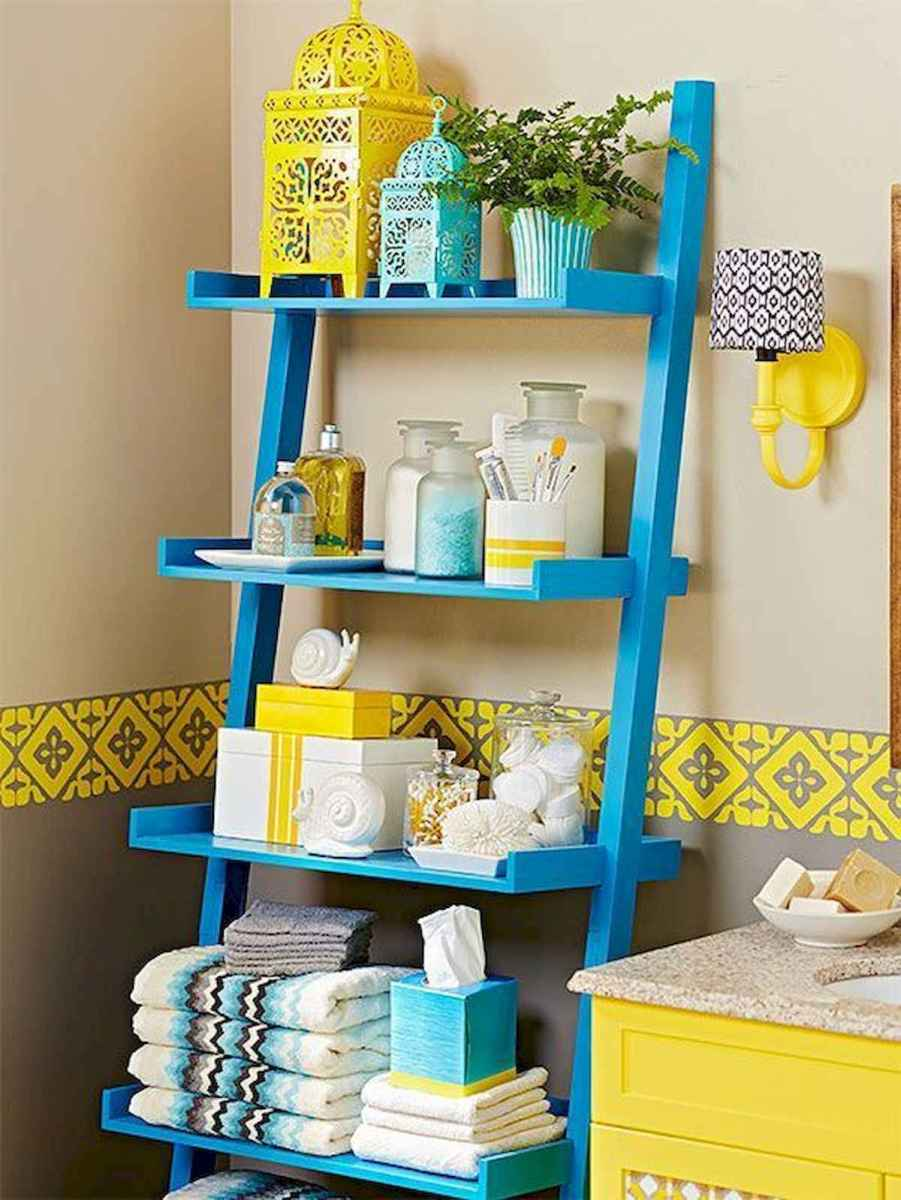 70+ Cool Colorful Bathroom Decor Ideas And Remodel for Summer Project (70)
