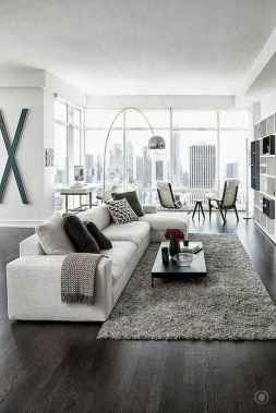 70 Stunning Grey White Black Living Room Decor Ideas And Remodel (13)