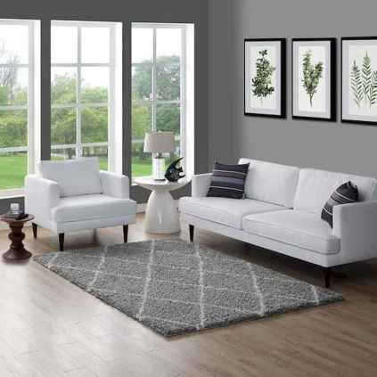 70 Stunning Grey White Black Living Room Decor Ideas And Remodel (18)