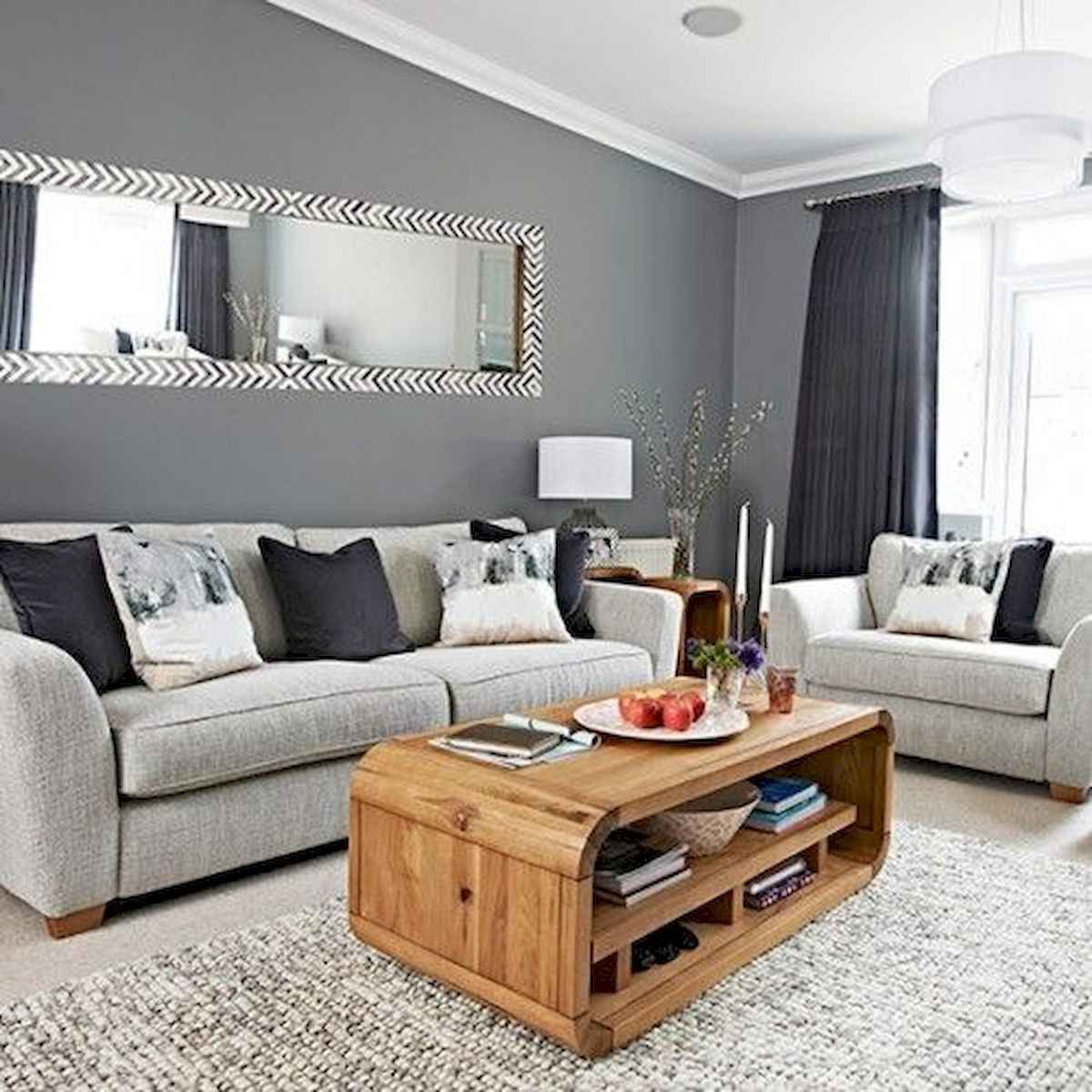 70 Stunning Grey White Black Living Room Decor Ideas And Remodel (22)