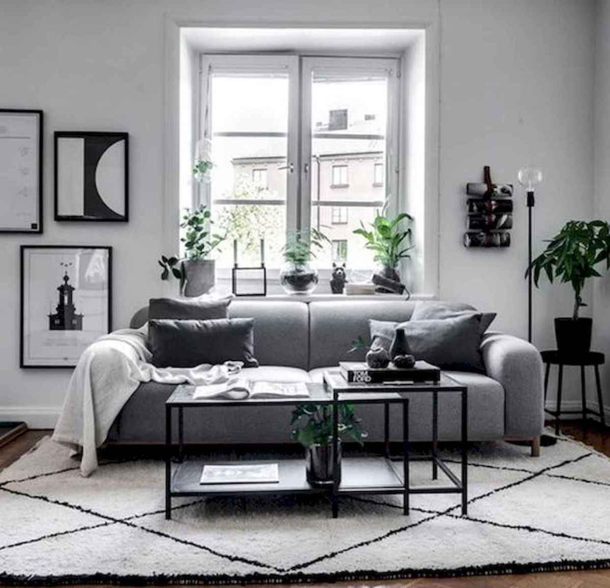 70 Stunning Grey White Black Living Room Decor Ideas And Remodel (3)