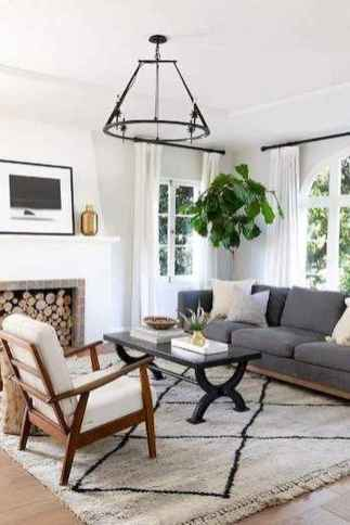 70 Stunning Grey White Black Living Room Decor Ideas And Remodel (37)