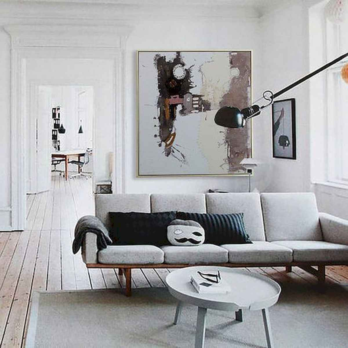 70 Stunning Grey White Black Living Room Decor Ideas And Remodel (49)