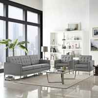 70 Stunning Grey White Black Living Room Decor Ideas And Remodel (53)