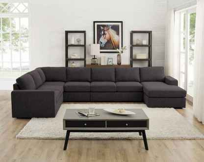 70 Stunning Grey White Black Living Room Decor Ideas And Remodel (56)
