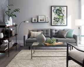 70 Stunning Grey White Black Living Room Decor Ideas And Remodel (58)