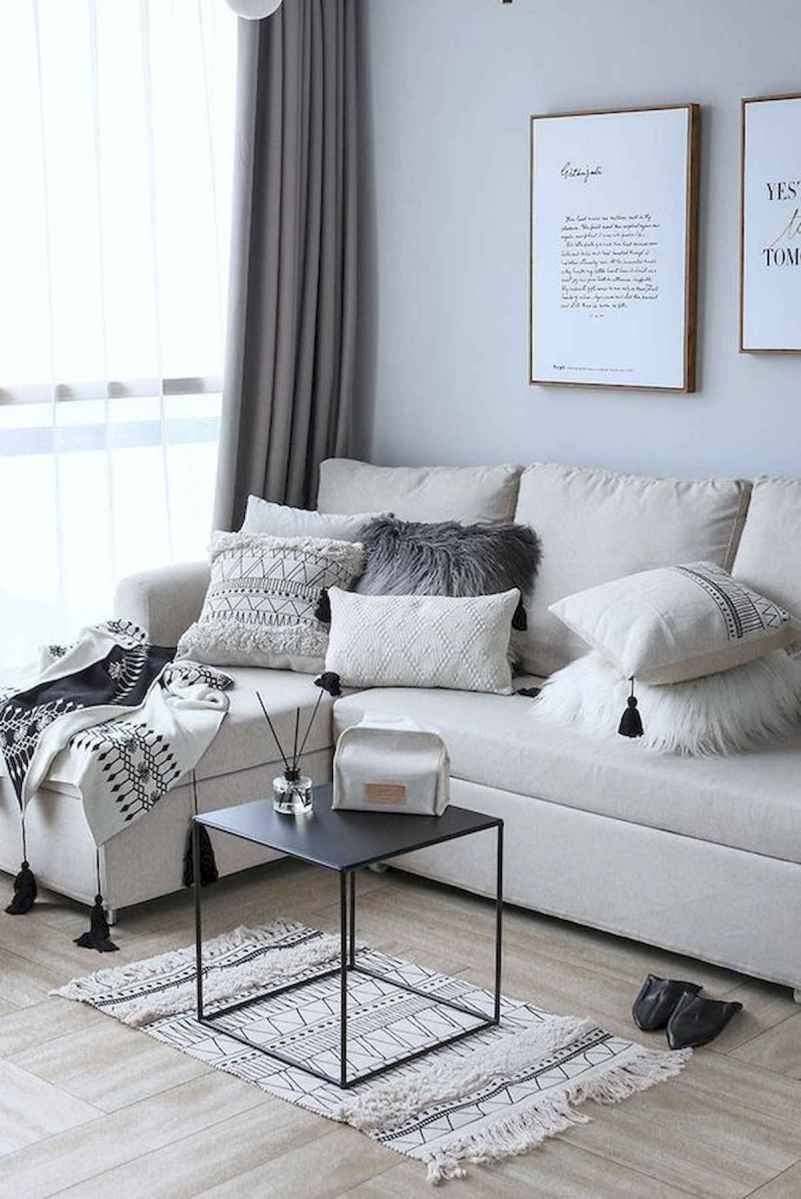 70 Stunning Grey White Black Living Room Decor Ideas And Remodel (60)