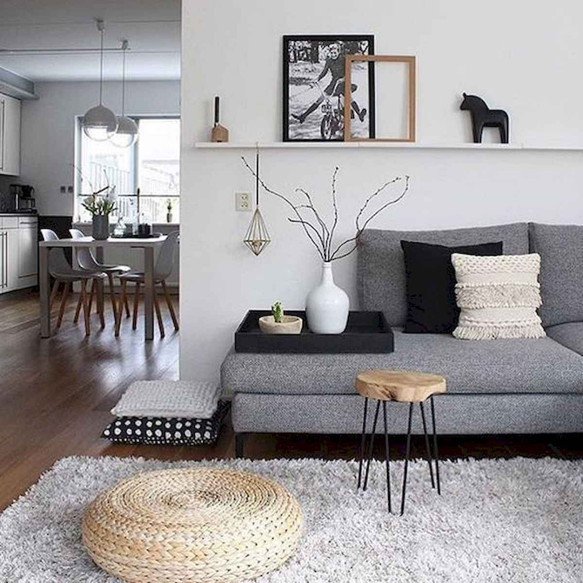 70 Stunning Grey White Black Living Room Decor Ideas And Remodel (68)