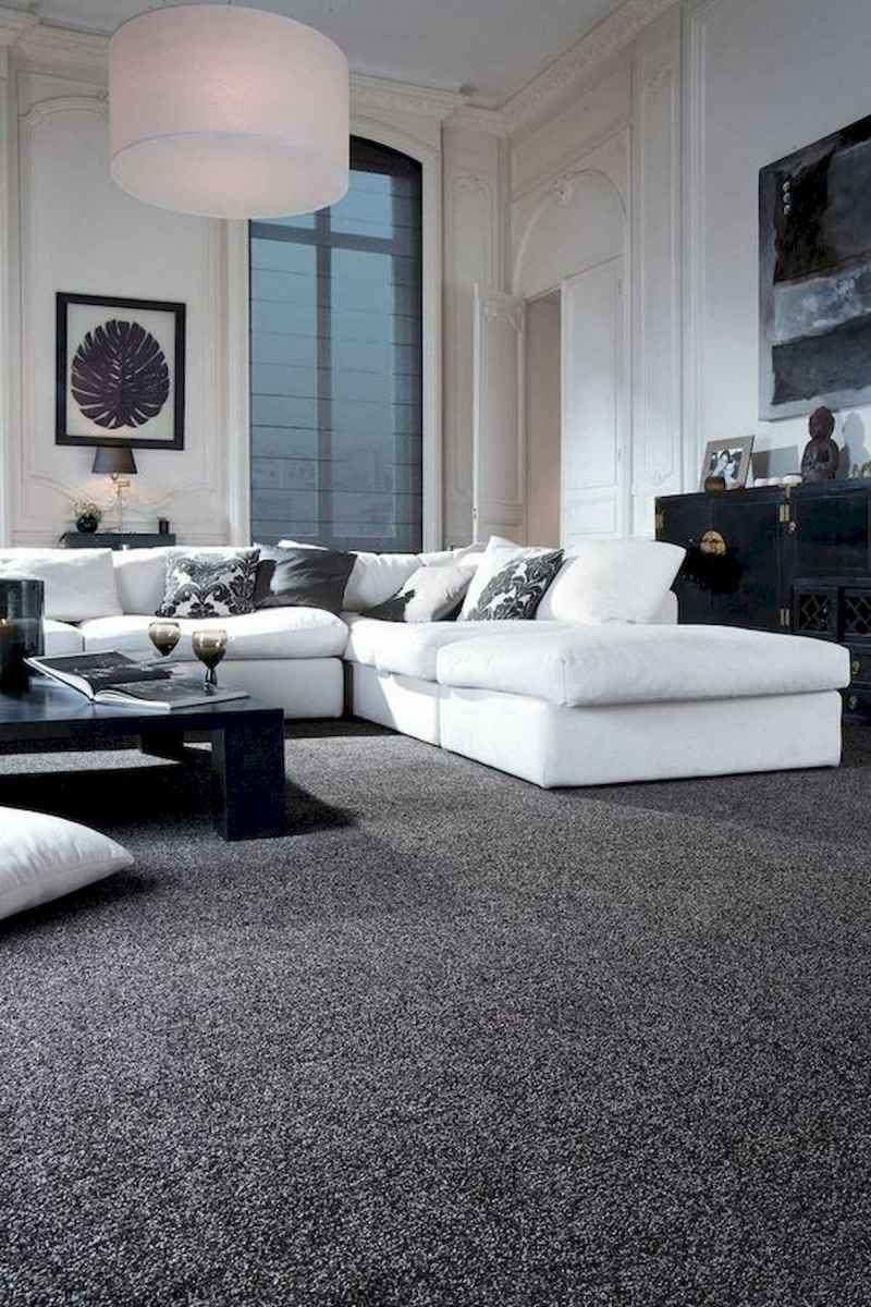 70 Stunning Grey White Black Living Room Decor Ideas And Remodel (7)