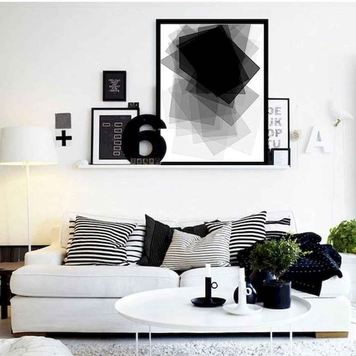70 Stunning Grey White Black Living Room Decor Ideas And Remodel (8)